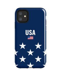USA Flag Stars iPhone 11 Impact Case
