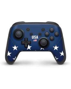 USA Flag Stars Nintendo Switch Pro Controller Skin