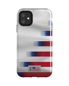 USA Soccer Flag iPhone 11 Impact Case
