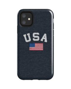 USA with American Flag iPhone 11 Impact Case