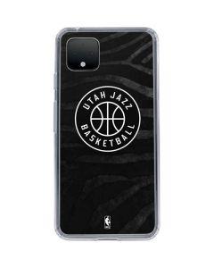 Utah Jazz Black Animal Print Google Pixel 4 XL Clear Case