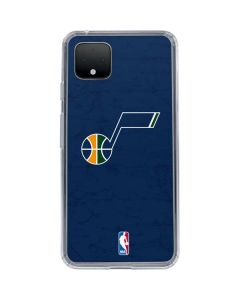 Utah Jazz Blue Texture Google Pixel 4 XL Clear Case