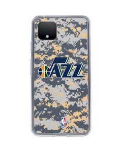Utah Jazz Grey Digi Camo Google Pixel 4 XL Clear Case