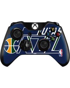 Utah Jazz Large Logo Xbox One Controller Skin