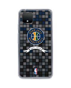 Utah Jazz Pixels Google Pixel 4 XL Clear Case