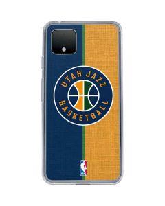Utah Jazz Split Canvas Google Pixel 4 XL Clear Case