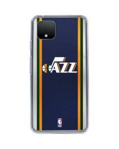 Utah Jazz Team Jersey Google Pixel 4 Clear Case
