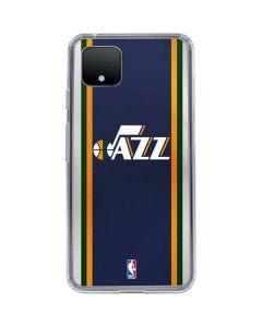 Utah Jazz Team Jersey Google Pixel 4 XL Clear Case