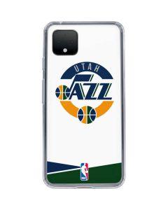 Utah Jazz White Split Google Pixel 4 XL Clear Case