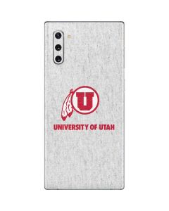 Utah Utes Distressed Galaxy Note 10 Skin