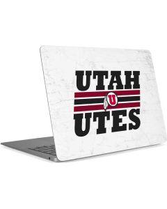 Utah Utes Italicized Apple MacBook Air Skin