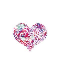 Swirly Heart Galaxy Book Keyboard Folio 12in Skin
