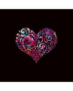 Black Swirly Heart Galaxy Book Keyboard Folio 12in Skin