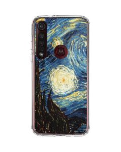 van Gogh - The Starry Night Moto G8 Plus Clear Case