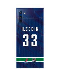 Vancouver Canucks #33 Henrik Sedin Galaxy Note 10 Skin