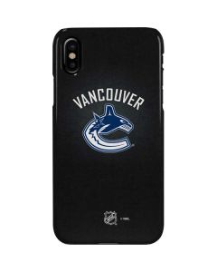 Vancouver Canucks Black Background iPhone XS Max Lite Case