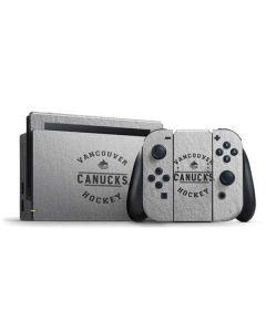 Vancouver Canucks Black Text Nintendo Switch Bundle Skin