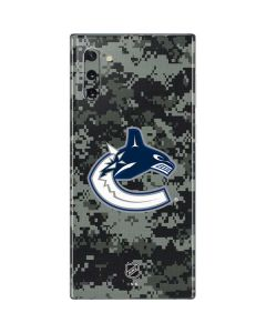 Vancouver Canucks Camo Galaxy Note 10 Skin