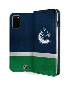 Vancouver Canucks Jersey Galaxy S20 Plus Folio Case