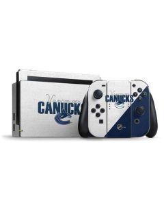 Vancouver Canucks Script Nintendo Switch Bundle Skin