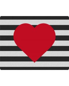 Black And White Striped Heart Galaxy Book Keyboard Folio 12in Skin