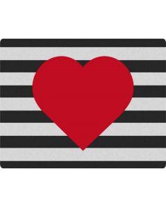 Black And White Striped Heart Apple MacBook Pro Skin