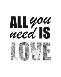 All You Need Is Love BW Apple MacBook Pro Skin