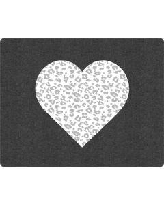 Grey Leopard Heart Apple MacBook Pro Skin