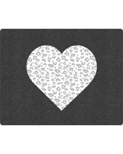 Grey Leopard Heart Generic Laptop Skin
