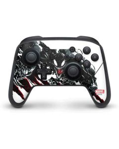 Venom Slashes Nintendo Switch Pro Controller Skin