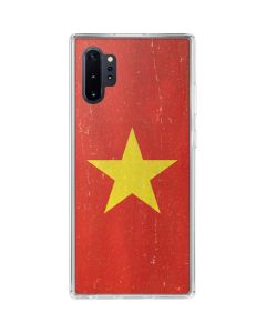Vietnam Flag Distressed Galaxy Note 10 Plus Clear Case