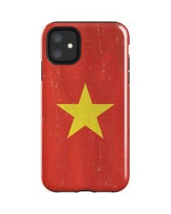Vietnam Flag Distressed iPhone 11 Impact Case