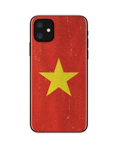 Vietnam Flag Distressed iPhone 11 Skin