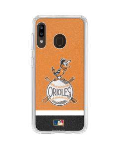 Vintage Orioles Galaxy A20 Clear Case