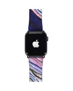 Violet Watercolor Geode Apple Watch Band 38-40mm