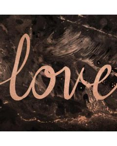 Love Rose Gold Black Generic Laptop Skin