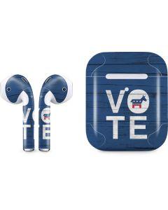 Vote Democrat Apple AirPods 2 Skin