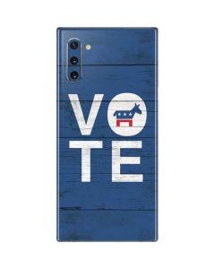 Vote Democrat Galaxy Note 10 Skin