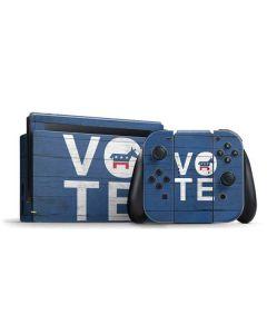 Vote Democrat Nintendo Switch Bundle Skin