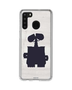 WALL-E Silhouette Galaxy A21 Clear Case