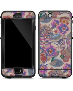 Warm Taupe Floral LifeProof Nuud iPhone Skin