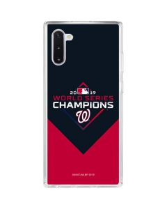 Washington Nationals 2019 World Series Champions Galaxy Note 10 Clear Case