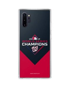 Washington Nationals 2019 World Series Champions Galaxy Note 10 Plus Clear Case