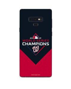 Washington Nationals 2019 World Series Champions Galaxy Note 9 Skin