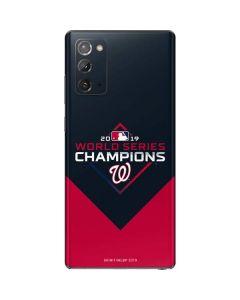 Washington Nationals 2019 World Series Champions Galaxy Note20 5G Skin