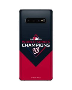 Washington Nationals 2019 World Series Champions Galaxy S10 Plus Skin