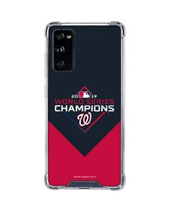 Washington Nationals 2019 World Series Champions Galaxy S20 FE Clear Case