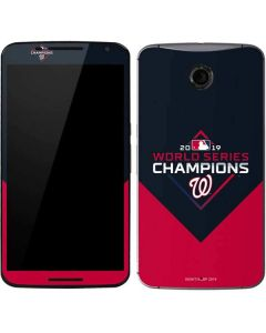 Washington Nationals 2019 World Series Champions Google Nexus 6 Skin