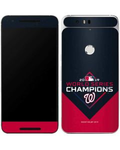 Washington Nationals 2019 World Series Champions Google Nexus 6P Skin