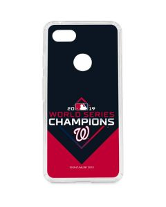Washington Nationals 2019 World Series Champions Google Pixel 3 XL Clear Case